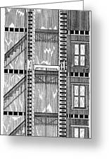 Freight Elevator, 1876 Greeting Card by Granger