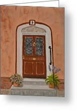French Door Number Nine  Greeting Card by Nancy Wood