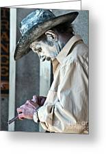 French Quarter Cowboy Mime Greeting Card by Kathleen K Parker
