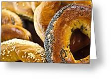 Fresh bagels Greeting Card by Elena Elisseeva