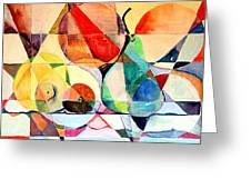 Fresh Fruit Greeting Card by Mindy Newman