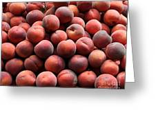 Fresh Peaches - 5d17816 Greeting Card by Wingsdomain Art and Photography