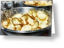 Fresh Potato Chips Greeting Card by Susan Savad