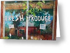 Fresh Produce Greeting Card by Micheal Jones