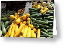 Fresh Zucchinis And Artichokes - 5d17817 Greeting Card by Wingsdomain Art and Photography