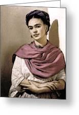 Frida Interpreted 2 Greeting Card by Lenore Senior