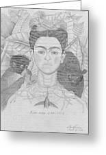 Frida Khalo Greeting Card by Jose Valeriano