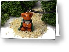 Frodo Kitty Hugging The One Ring Lord Of The Rings Parody Necklace Greeting Card by Pet Serrano