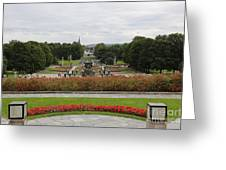 Frogner Park Greeting Card by Carol Groenen
