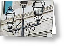 Front Street Lamp Greeting Card by Brenda Bryant