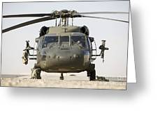 Front View Of A Uh-60l Black Hawk Greeting Card by Terry Moore