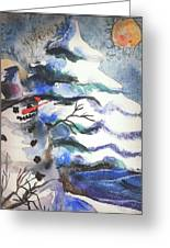 Frosty Greeting Card by Mindy Newman