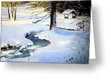 Frozen Brook Greeting Card by Jeanne Rosier Smith