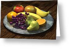 Fruit Bowl Greeting Card by Martin Davey