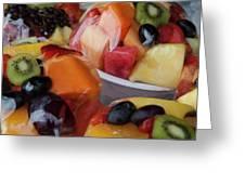 Fruit Cup Greeting Card by Lorraine Devon Wilke