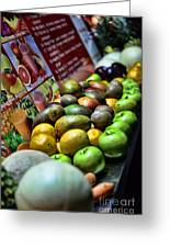 Fruit Stand Greeting Card by Paul Ward