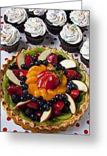 Fruit Tart Pie And Cupcakes  Greeting Card by Garry Gay