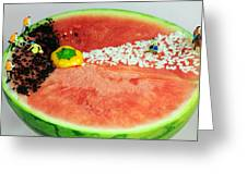 Fruits Depicting Kepler's Law Greeting Card by Paul Ge