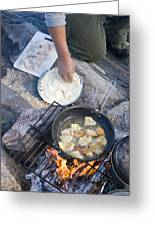 Frying Walleye Fish Fillets Greeting Card by Skip Brown