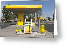Fuel Pump At A Gas Station Greeting Card by Jaak Nilson