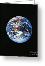 Full Earth From Space Greeting Card by Stocktrek Images