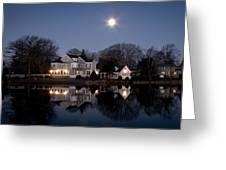Full Moon Over Babylon Greeting Card by Vicki Jauron