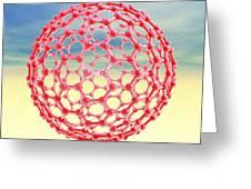 Fullerene Molecule, Computer Artwork Greeting Card by Laguna Design