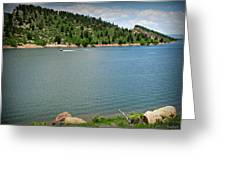 Fun At The Lake Greeting Card by Aaron Burrows