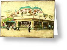 Fun House - Jersey Shore Greeting Card by Angie Tirado