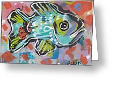 Funky Folk Fish 2012 Greeting Card by Robert Wolverton Jr
