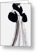 Fur Coat Greeting Card by Mel Thompson