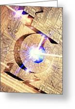Future Computing, Conceptual Image Greeting Card by Richard Kail
