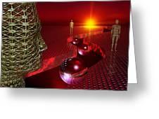 Future Humanity, Artwork Greeting Card by Studio Macbeth
