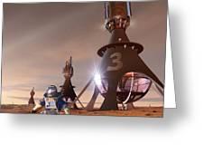 Future Mars Exploration, Artwork Greeting Card by Detlev Van Ravenswaay