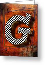 G Greeting Card by Mauro Celotti