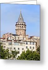 Galata Tower In Istanbul Greeting Card by Artur Bogacki