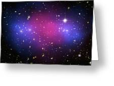 Galaxy Cluster Collision, X-ray Image Greeting Card by Nasaesacxcstscim. Bradac And S. Allen
