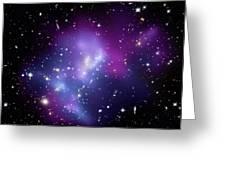 Galaxy Cluster Macs J0717 Greeting Card by Nasacxcstscima Et Al