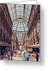 Galleria Vittorio Emanuele Greeting Card by Benjamin Matthijs