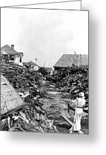 Galveston Flood Debris - September - 1900 Greeting Card by International  Images