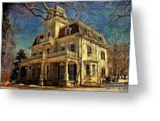 Gambrill Mansion Greeting Card by Lianne Schneider