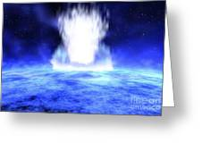 Gamma Ray Burst Erupts From Star Greeting Card by NASA / Science Source