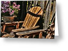 Garden Chairs Greeting Card by Bonnie Bruno