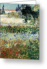 Garden In Bloom Greeting Card by Vincent Van Gogh