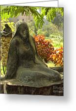 Garden Of Statues Egypt Greeting Card by Mary Machare