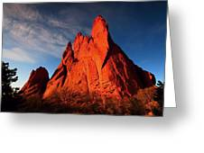 Garden Of The Gods Rocks Greeting Card by Paul Svensen