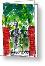 Garden Philadelphia Greeting Card by Marilyn MacGregor