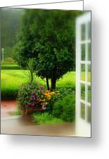 Garden Rain Greeting Card by Brandi Allbright