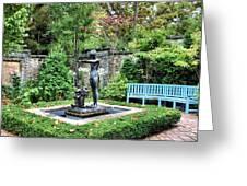 Garden Statuary Greeting Card by Kristin Elmquist