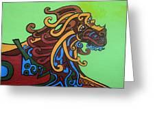 Gargoyle Dog Greeting Card by Genevieve Esson
